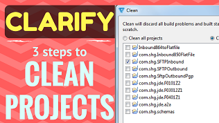 Youtube video of Cleaning Cleo Clarify Eclipse Workspace Projects, Packages, Objects