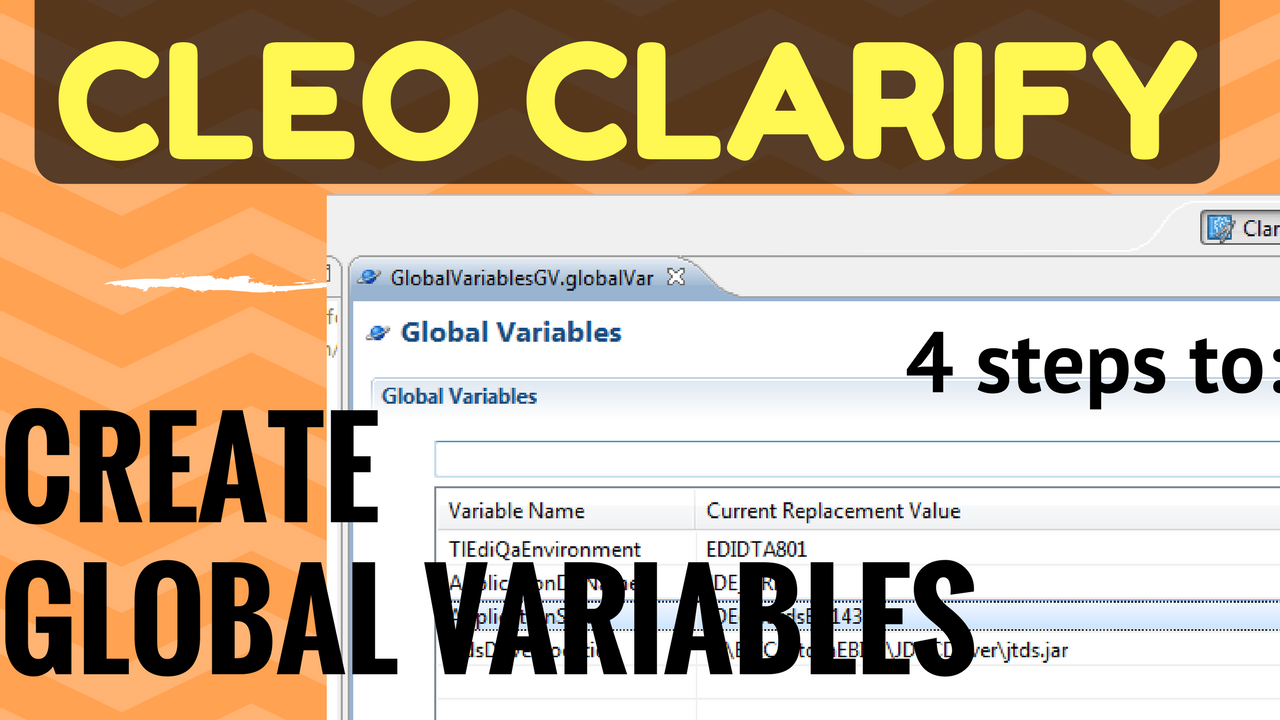How To Create Cleo Clarify Global Variables Objects Youtube video