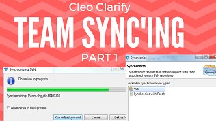 Youtube video of Cleo Clarify SVN Project Team Synchronization with SVN - Part 1