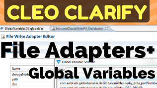 How-to Use Clarify Global Variables with File Adapters Youtube video